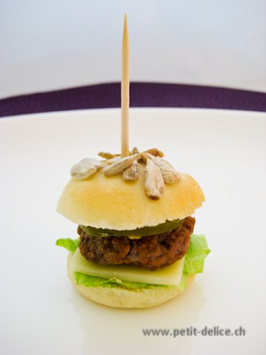 Mini-Burger piquant