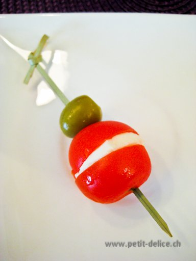 Catering • Partyservice • Traiteur • Zurich • Brochette olive, tomate