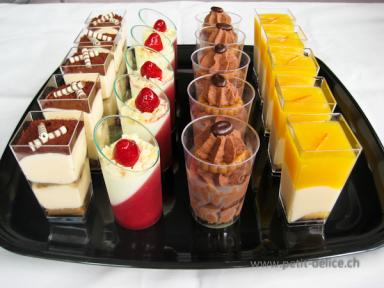 Plateau verrines chocolat et fruits