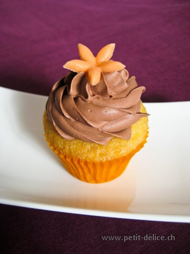 Orange-Schokolade Cupcake